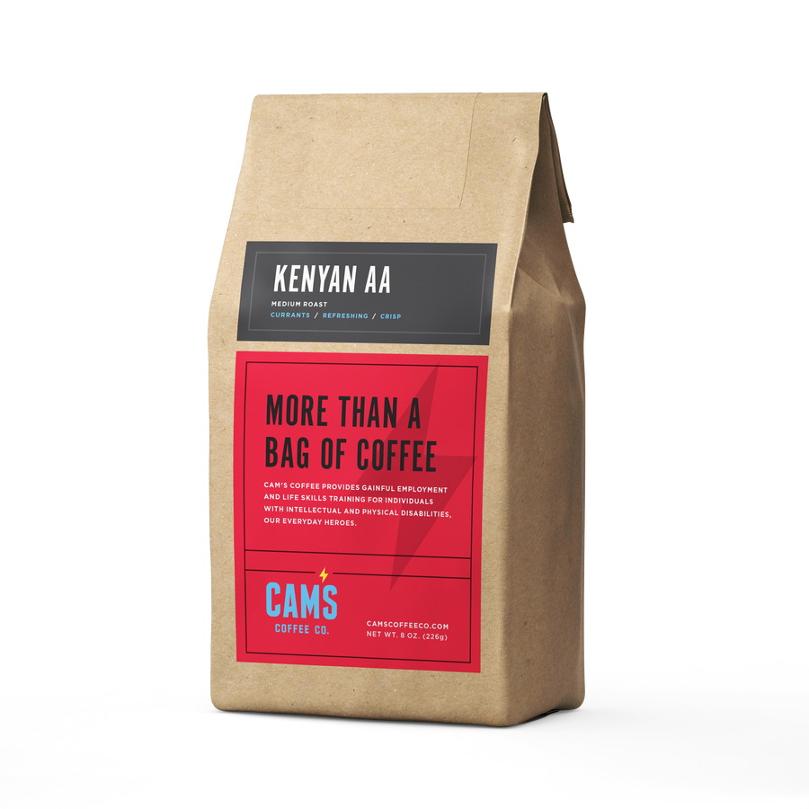 Kenyan AA Ground Coffee - Cam's Coffee Co.