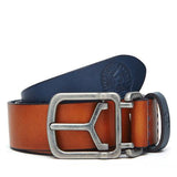 CONTRAST-COLOURED LEATHER BELT
