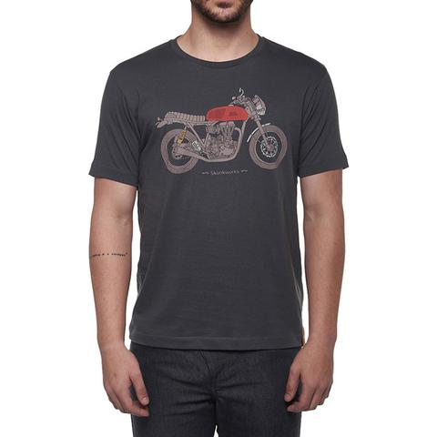 CONTINENTAL SKUNKWORKS TEE CHARCOAL