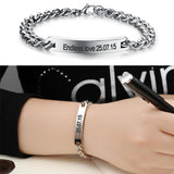 Personalized Link Chain Name Bracelet Stainless Steel Bangles,,[tags] - DeliteShopping
