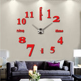 Large Mirror DIY Wall Clock With Modern Design,Home Decorators,[tags] - DeliteShopping