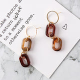 Retro Style Marble Geometric Drop Earrings,,[tags] - DeliteShopping