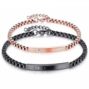 """LOVE"" Stainless Steel Personalized Bracelets For Women & Men,,[tags] - DeliteShopping"