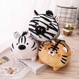 Healing Soothing Soft Stuffed Tiger Zebra Plush Toys Pillow For Kids & Adults,Home Decorators,[tags] - DeliteShopping