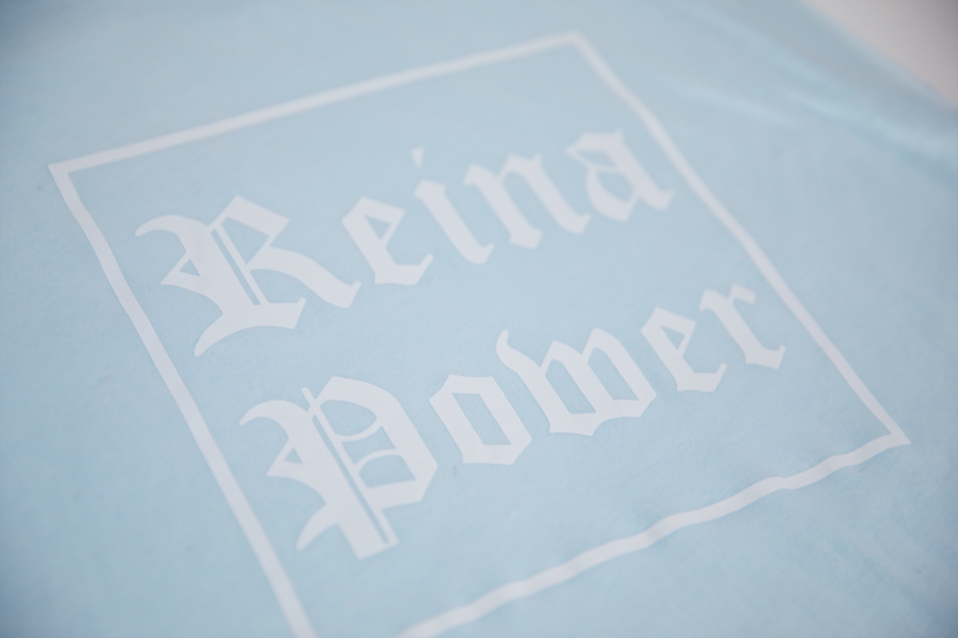'Reina Power' Ice Blue Cropped Tank