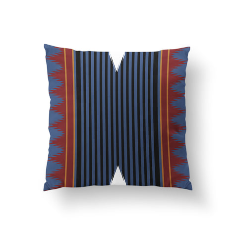 Colonnade Blue Rust - PURE MULBERRY SILK