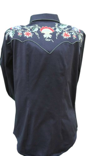 Rockmount Women's Vintage Western Shirt With Floral Embroidery