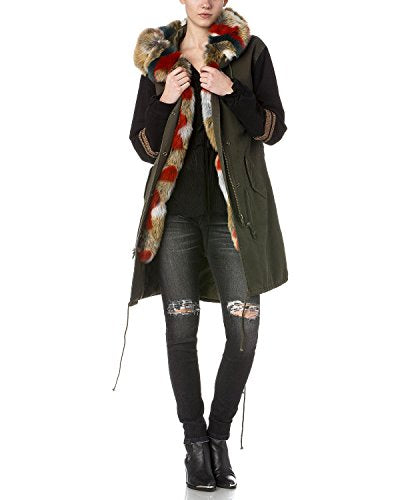 Miss Me Women's Olive Getting Warmer Utility Jacket - Mdj390l