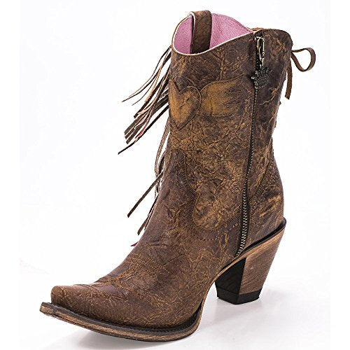 Junk Gypsy Western Boots Womens Spirit Animal Ankle Fringe JG0040A