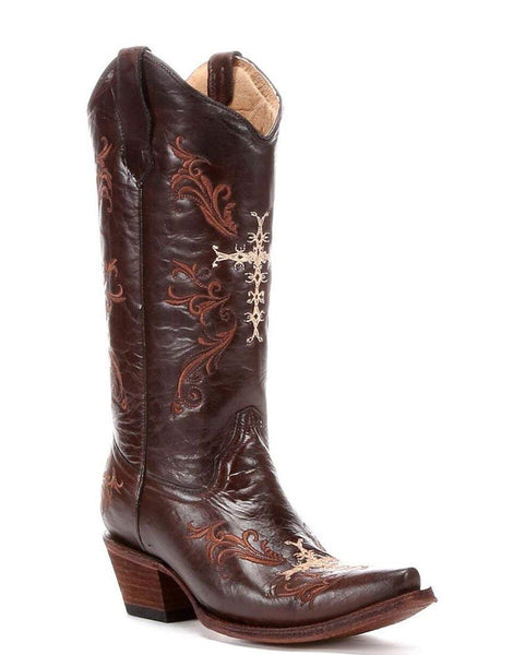 Circle G Corral Women's Cross Embroidery Western Boot