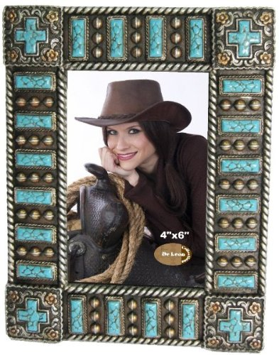 Cross Turquoise 4x6 Photo Frame