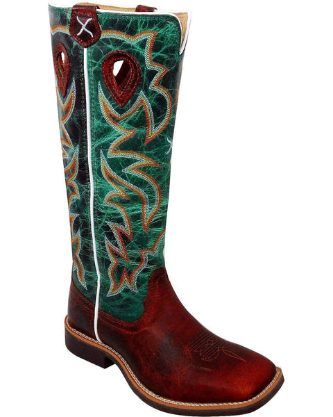 Twisted X Boys' Turquoise Buckaroo Cowboy Boot Square Toe - Ybk0005