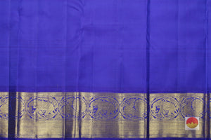 Royal blue silk Blouse of kanjivaram silk saree