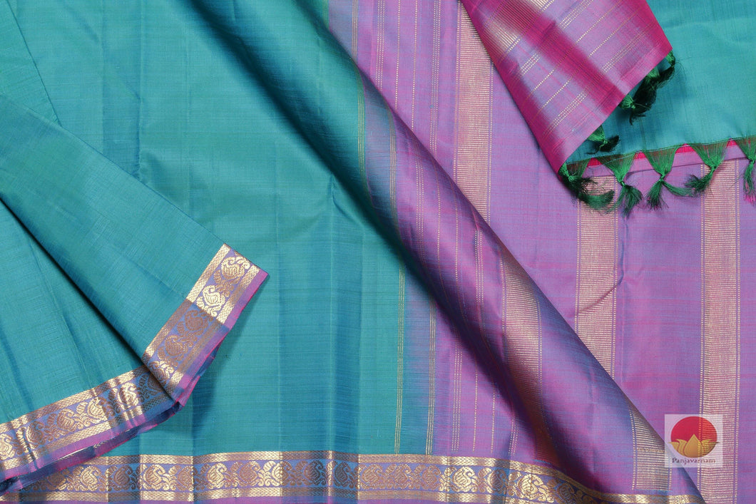 Traditional Design Handwoven Pure Silk Kanjivaram Saree - Pure Zari - PV SVS 10383