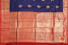 pallu detail of batik silk saree