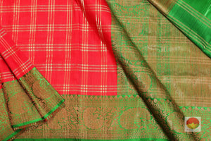 body and pallu detail of banarasi silk  saree