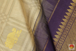 Borderless - Handwoven Pure Silk Kanjivaram Saree - Pure Zari - PV G 1899