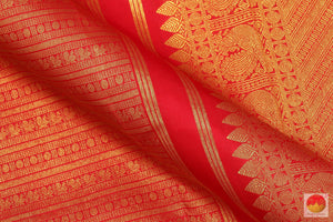 Red & Gold - Handwoven Pure Silk Kanjivaram Saree - Pure Zari - PV G 2017