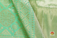 fabric detail of yarn in banarasi pure silk saree