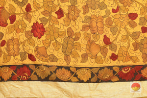 blouse of kalamkari  tussar silk saree
