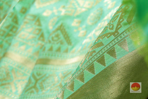fabric texture of banarasi pure silk saree
