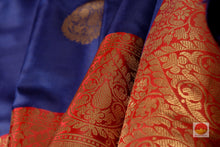 fabric detail of silk yarn in banarasi silk saree