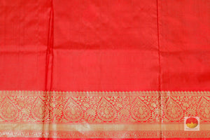 red silk blouse of banarasi silk saree