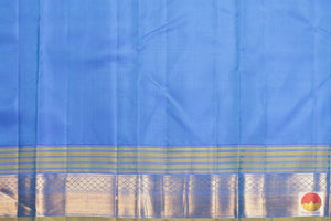 blue silk blouse of kanjivaram silk saree
