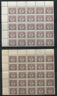0021CF1708 - FCF4, 4a - Mint Blocks of 25