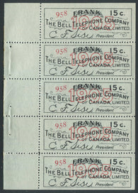 0132BT1907 - TBT18a - Mint Booklet Pane, Watermarked