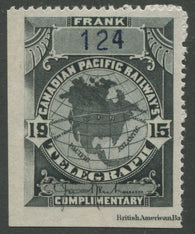 0028CP1907 - TCP28a - Mint, Watermarked