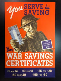 0001WS1806 - World War II - War Savings Stamp Poster, MINT