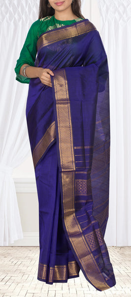 Royal Blue Silk Cotton Saree