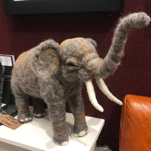 Needlefelt Elephant Original by Maxine Lowery *NEW*