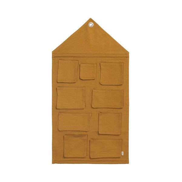 House Wall Storage - Mustard (only 1 left!)