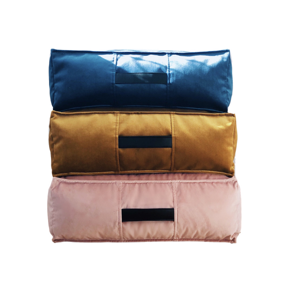 Velvet Ottoman - 3 colours available - JULY PREORDER