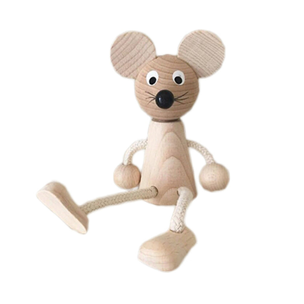Wooden Sitting Mouse | Dapper Mr Bear