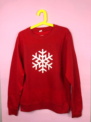 KIDS Christmas SNOWFLAKE sweatshirt