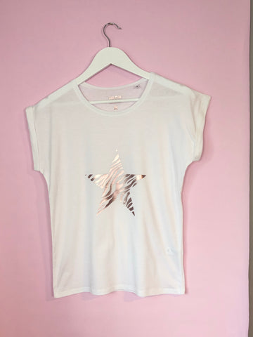 Ladies ZEBRA STAR t shirt