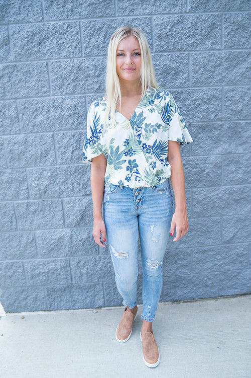 Libby Floral Print Top