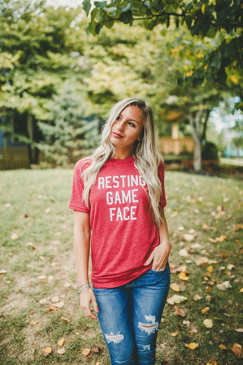 Resting Game Face Tee FINAL SALE