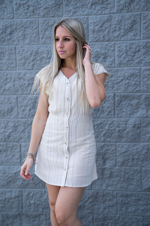 Bently Button Up Linen Dress