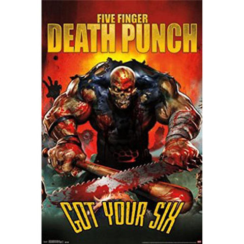 Five Finger Death Punch - Six 22x34 Standard Wall Art Poster