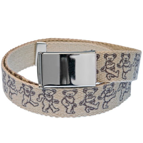 Grateful Dead - Repeat Dancing Bears Hemp Web Belt