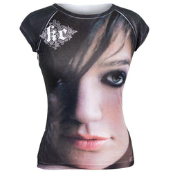 Kelly Clarkson - Close Up Photo All-Over Juniors T-Shirt