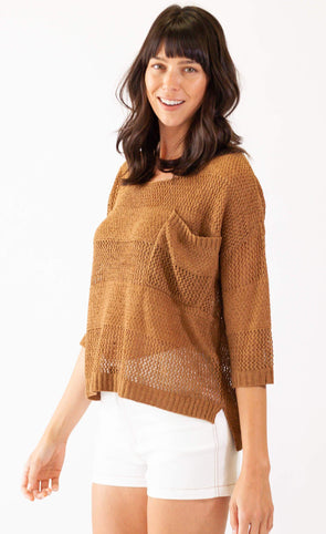 Tropical Paradise Sweater Brown