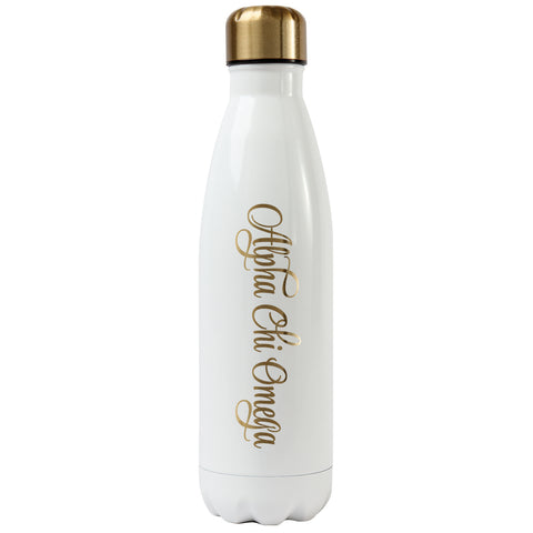 Ss Water Bottle Alpha Chi Omega - Alexandra and Company