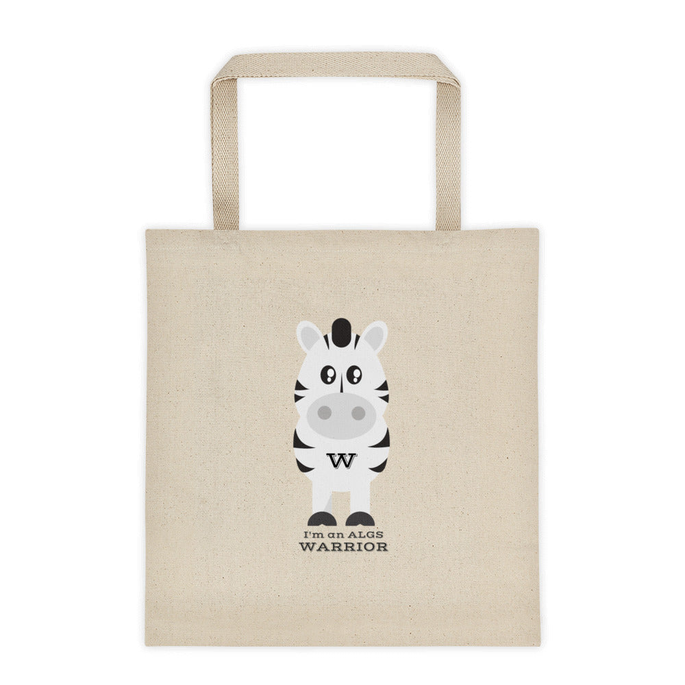 Warrior Zebra Tote bag