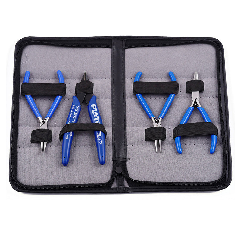 4 Pc Beginner Jewelry Tool Kit (Blue)