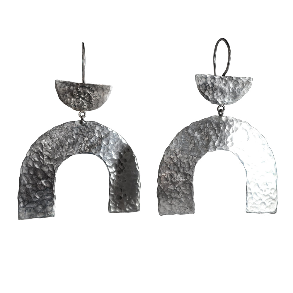 Hammered Arch Earrings